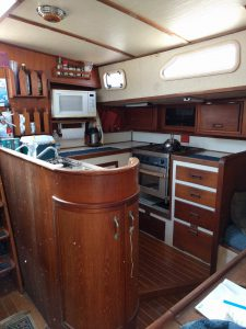 u shaped Galley view