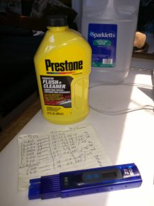 Prestone radiator flush cleaner