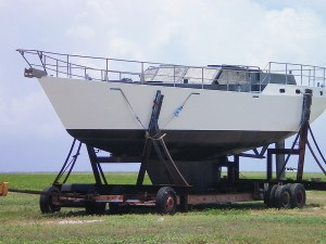 Yacht for sale on Wake Island.
