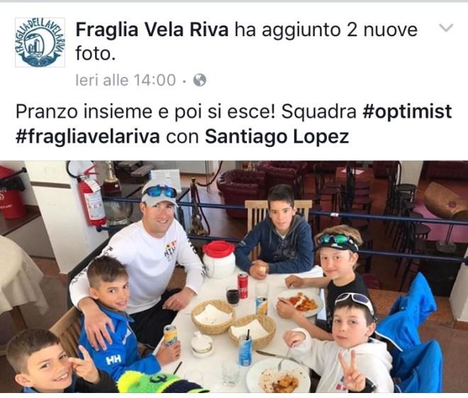 Santiago Lopez in Fraglia su Facebook