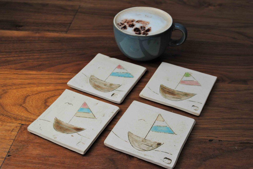 Coasters Boats Set Of 4