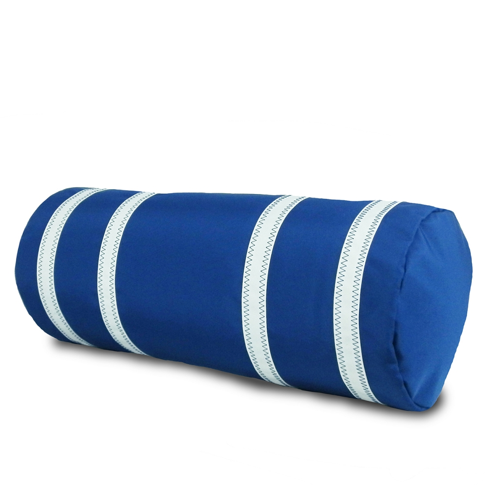 blue bolster pillow