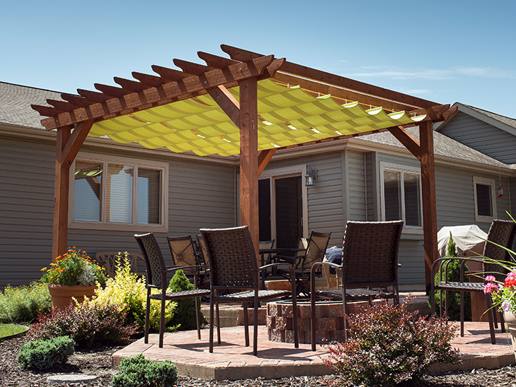 DIY Slide-On Wire-Hung Canopy for a Pergola