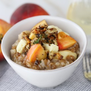 Peach & Spelt Berry Risotto with Pecan Chilli Crumb | Sails & Spices