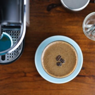 Coffee & Banana Smoothie for a quick and easy pick me up breakfast in the morning | www.sailsandspices.com
