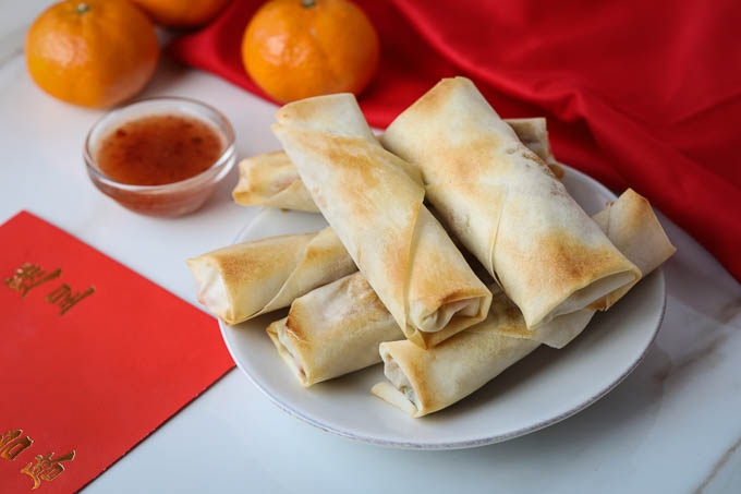 Baked Vegetable Spring Rolls to Celebrate Chinese New Year