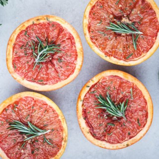Baked Grapefruit with Rosemary & Salt