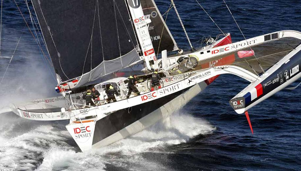 Francis Joyon completes Tea Route voyage in London