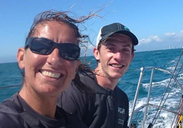 Dee Caffari and James Harayda_