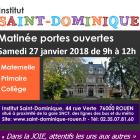 Portes Ouvertes Saint-Dominique – 27 Janvier 2018 – 9h / 12h
