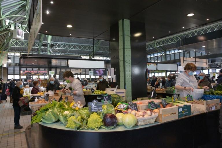 Halles couvertes et marché
