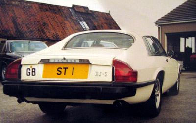 Photo of the back of the Saint's Jaguar