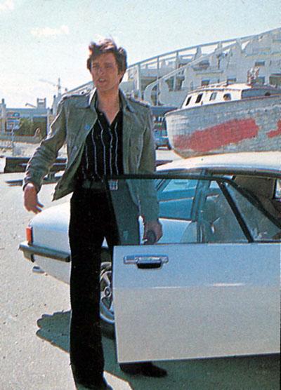 The Saint Ian Ogilvy with his Jaguar XJS