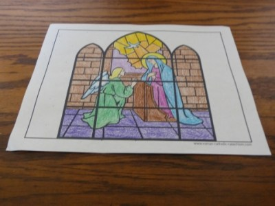 40 Rosary Coloring Pages The Mysteries Of Angel Declared Unto Mary Annunciation