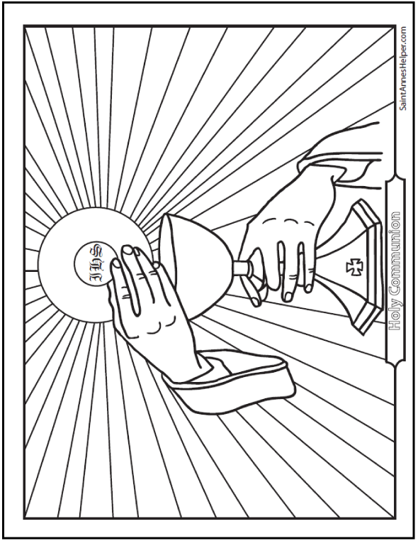 Holy Eucharist Coloring Pages Coloring Pages For Familly