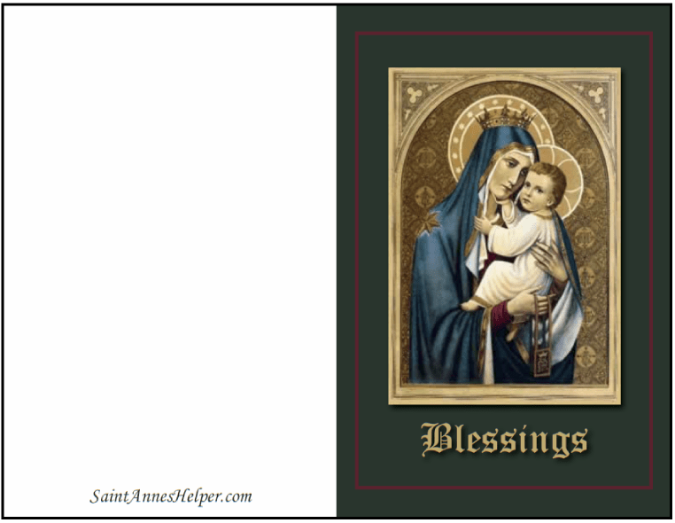 Catholic Christmas Cards Mother And Child