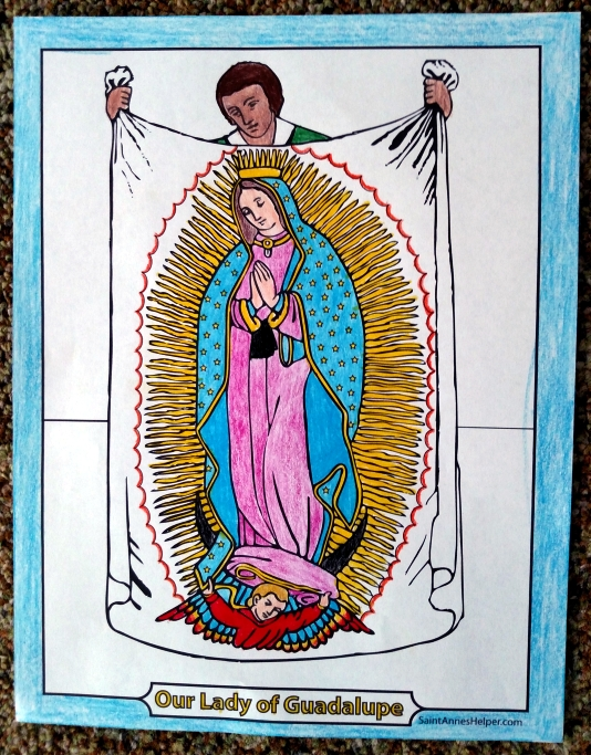 our lady of guadalupe coloring page # 11