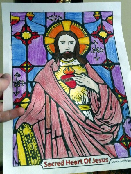 First Friday Devotion And Sacred Heart Coloring Page Color Sacred Heart of Jesus Pictures