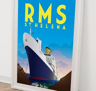 RMS St Helena Print