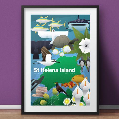 St Helena island print