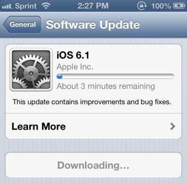 iOS6.1 update