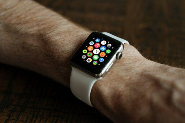 apple watch on wrist
