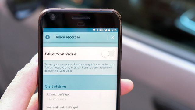 waze voice recorder