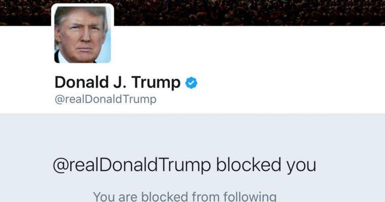 donald trump blocked you
