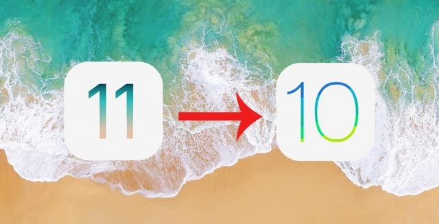 downgrade ios11