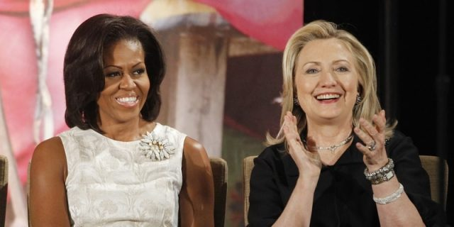 michelle obama and hillary clinton
