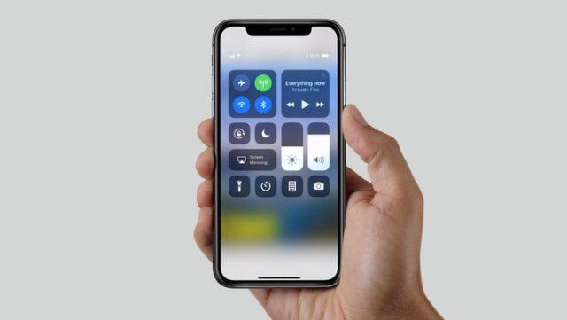 iphone x control center