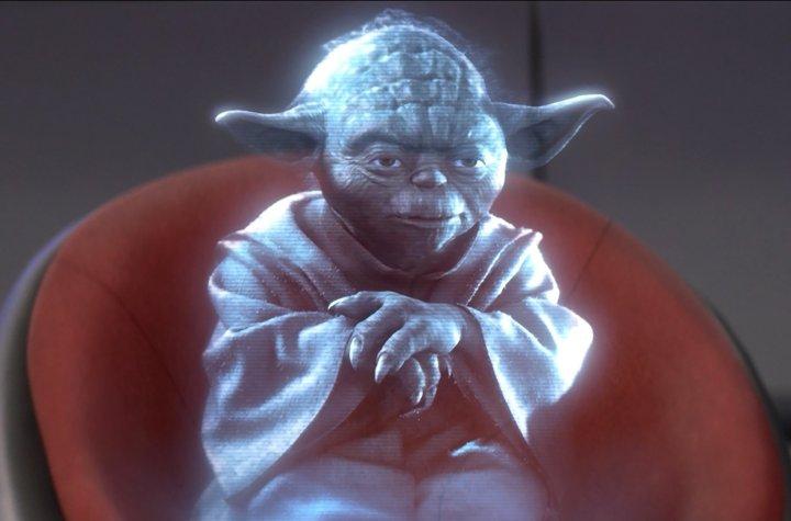 yoda hologram