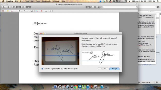 preview signature