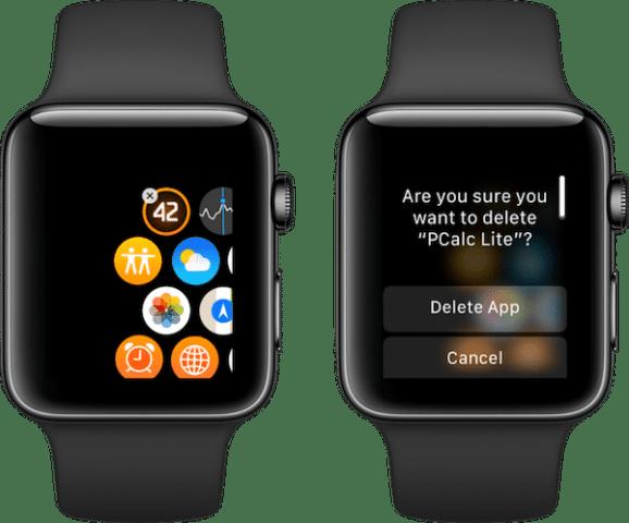 apple watch uninstall apps