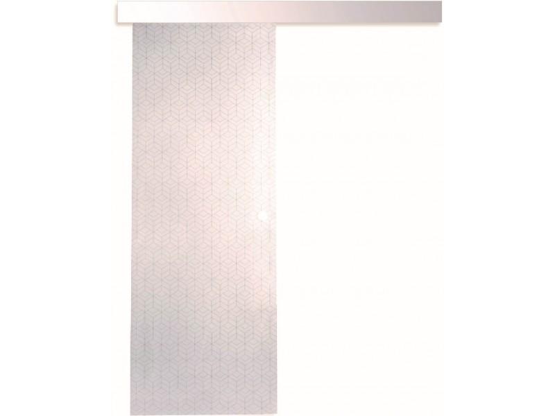 kit coulissant porte interieure seule vitree 203 5 cm x 83 cm