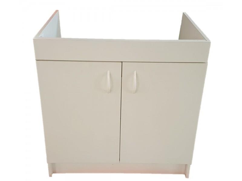 meuble sous evier 2 portes largeur 80 cm
