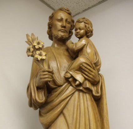 St Joseph: in chapel