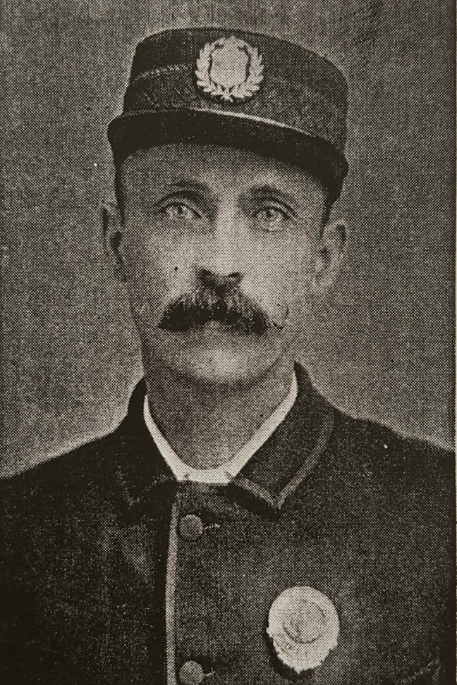 David Stephenson (1844-1937) in police uniform, circa 1880-1890 (Courtesy of Nanaimo Community Archives)