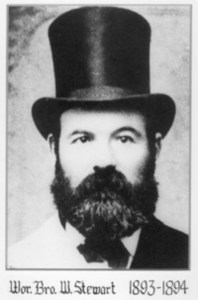 William Stewart (1834-1904) The 1893-1894 dates refer to his time as Worshipful master of St. John's Lodge No. 21 (photo property St. John's Lodge No. 21)