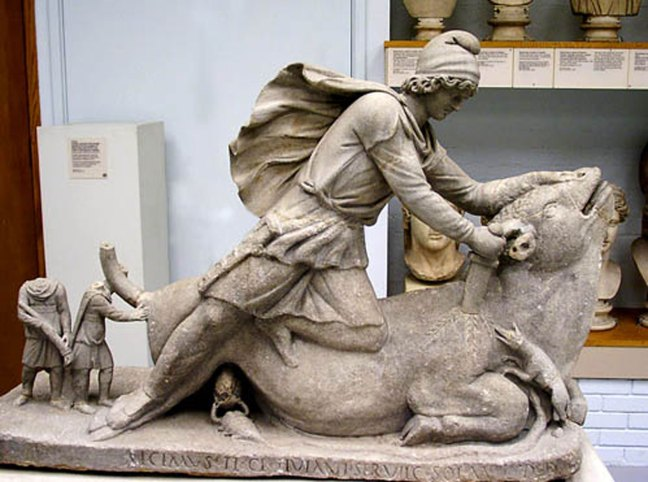 Statue of Mithras, Rome, circa 98-99 A.D. (Source: tertullian.org)