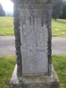 Archibald McLean, grave inscription, Ladysmith Cemetery (photo: St. John's Lodge No. 21 Historian)