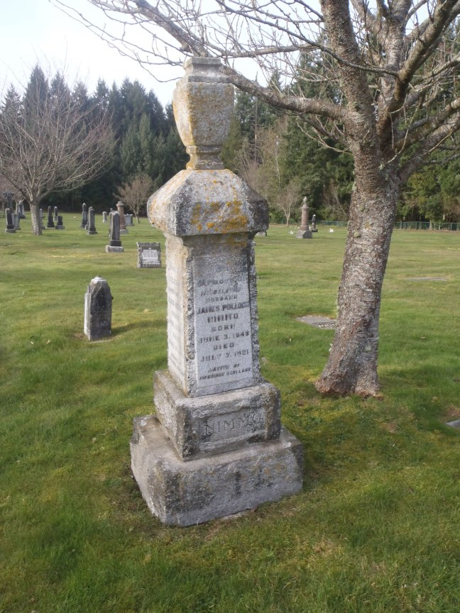 James Pollock Nimmo, grave, Ladysmith Cemetery (photo: St. John's Lodge No. 21 Historian)