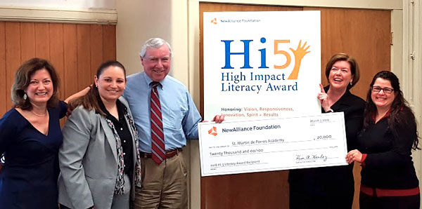 New Alliance Foundation Hi5 High Impact Literacy Award