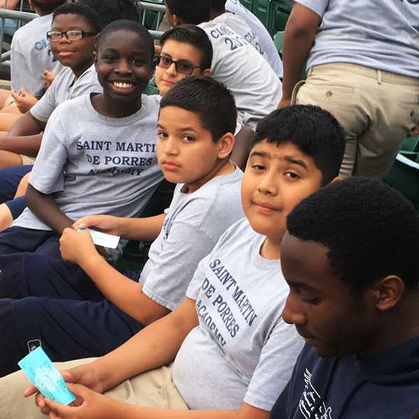 SMPA Students at Bridgeport Bluefish Reading Night