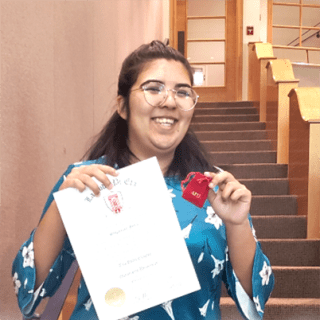 Stephanie inducted into the Tau Delta chapter of Lambda Pi Eta, the National Communication Association's official honor society