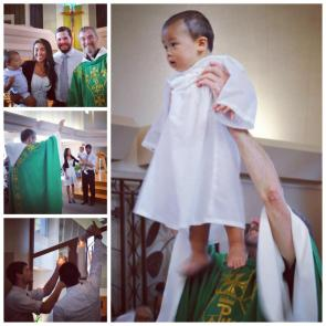McCullough baptism with Fr. Jim