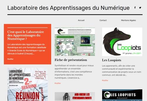 Site Web du Laboratoire des Apprentissages du Numérique