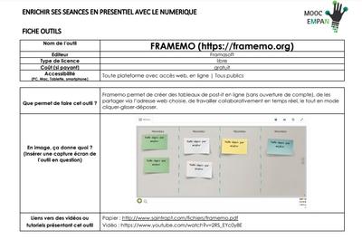MOOC Enrichir Mutuellement sa Pratique pédagogique Avec le Numérique (EMPAN)   Semaine 2