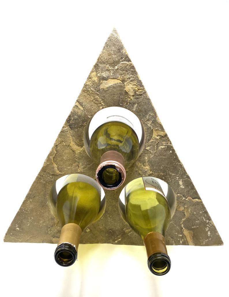 triangle wine bottle holder