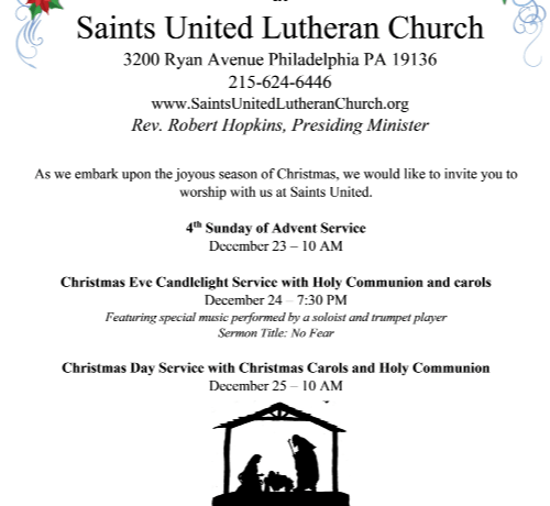 Christmas Service Schedule